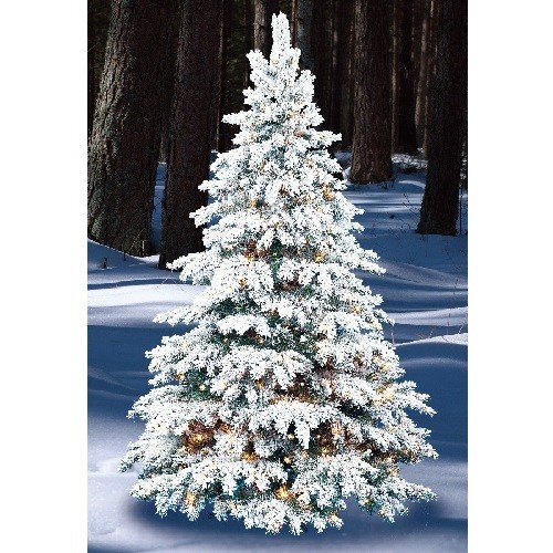 flocked silver tip - Silver Tip Christmas Tree