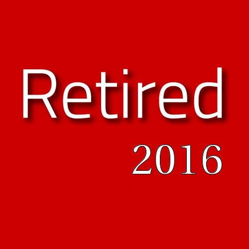 Retired for 2016