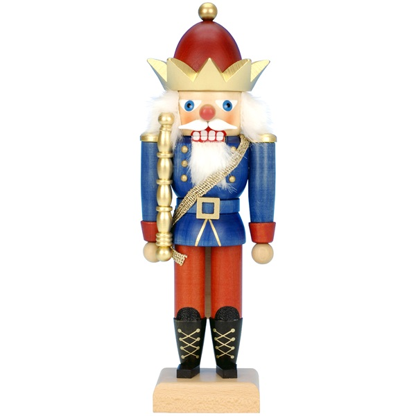 Mini Nutcracker King Red And Blue