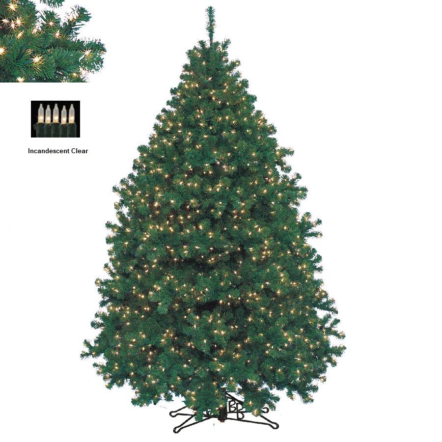barcana 8103308001p 8 alaskan fir with clear lights power pole - Barcana Christmas Trees