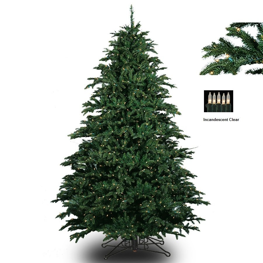 BARCANA 8120707501P 7.5' Alaskan Fir Deluxe with Clear Lights