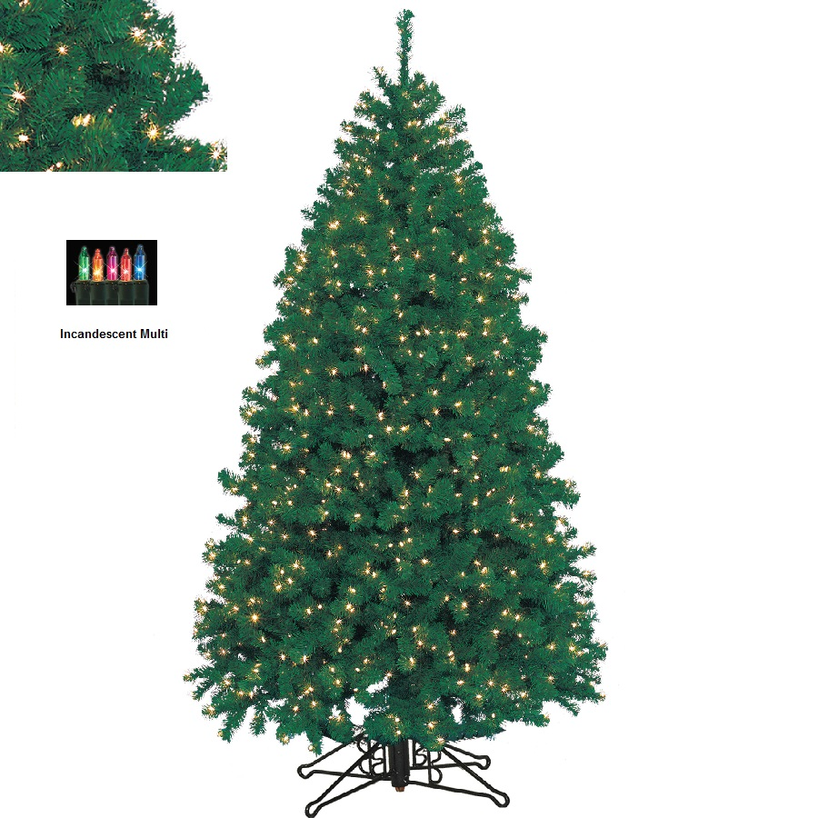 BARCANA 8137710002 10' Highland Fir with Multi-Colored Lights