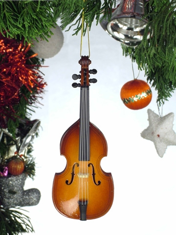 Upright Bass Hanging Ornament
