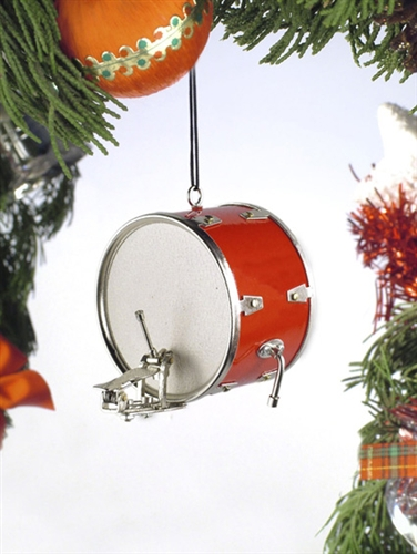 Red Bass Drum Hanging Ornament