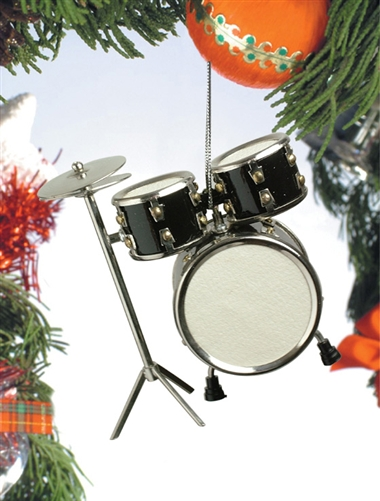 Black Drum Set Hanging Ornament