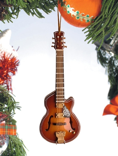 F-Hole Guitar with Cut Away Hanging Ornament