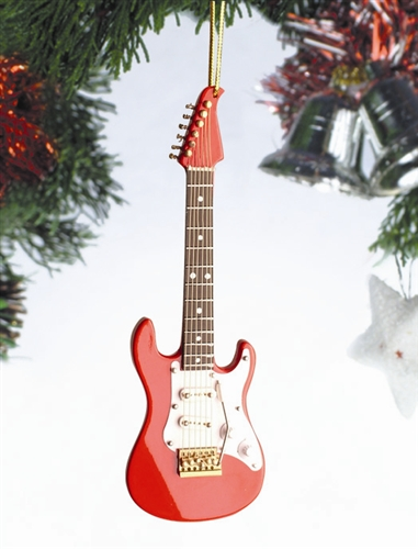 Red Electirc Guitar Hanging Ornament