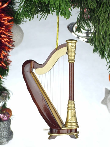 Harp Hanging Ornament