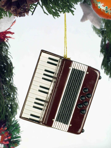 Red Accordian Hanging Ornament