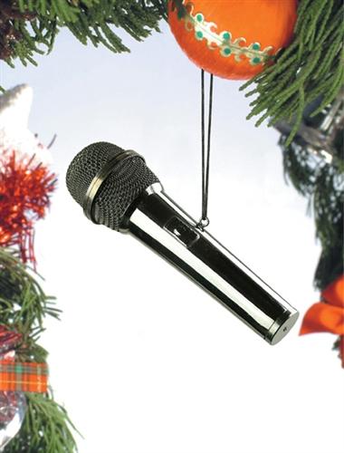 Black Mircophone Hanging Ornament