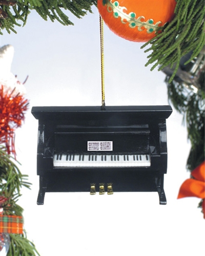 Black Upright Piano Hanging Ornament