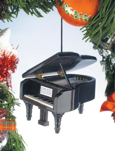 Black Grand Piano Hanging Ornament