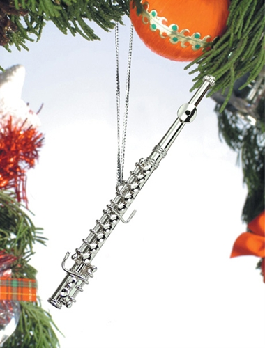 Silver Flute Hanging Ornament