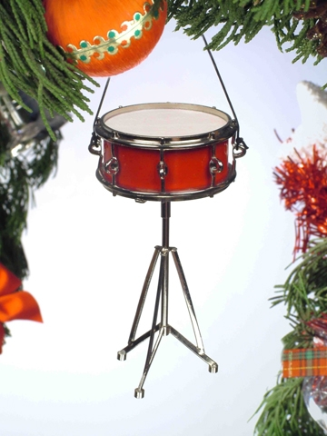 Red Snare Drum Hanging Ornament