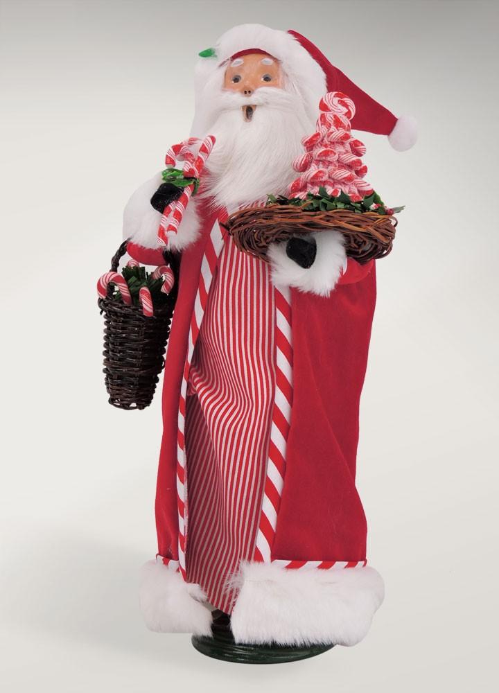 BYERS' CHOICE LTD 3163 Candy Cane Santa 2016