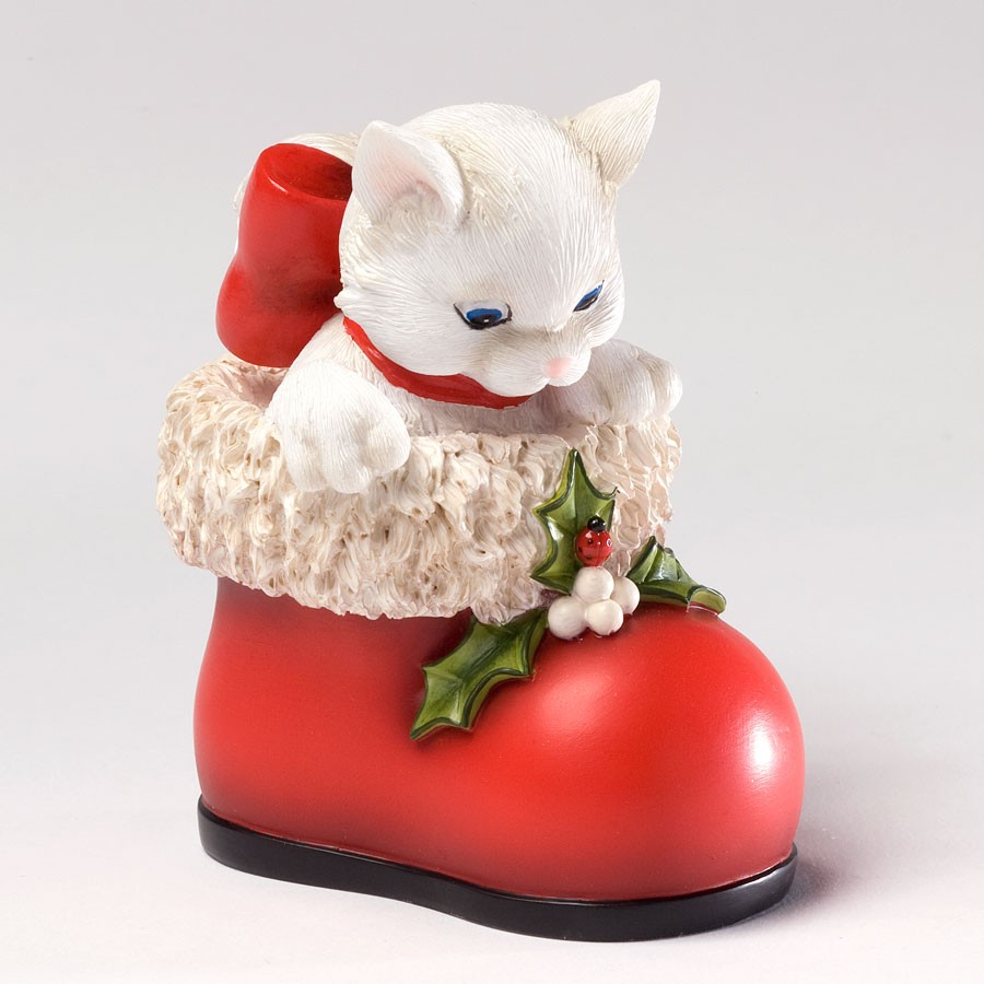 Are You Santa? - Cat In Red Boot