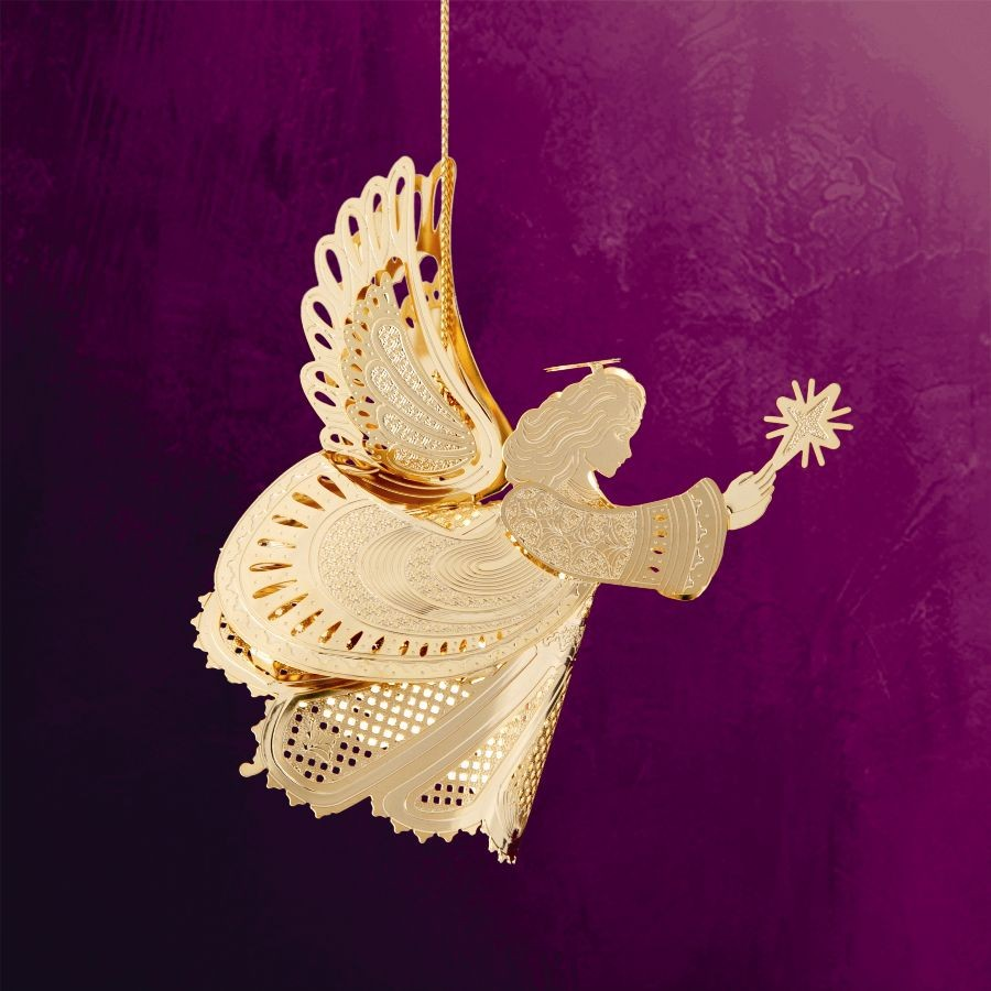 3D Angel with Star Hanging Ornament