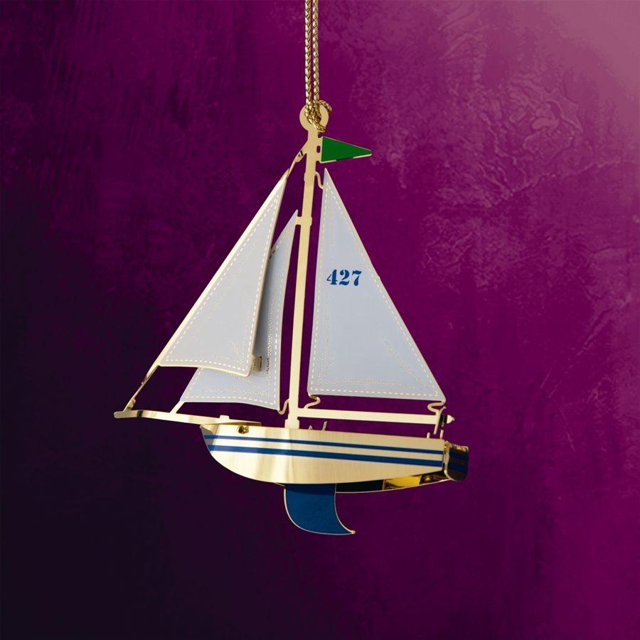 Sailboat Hanging Ornament