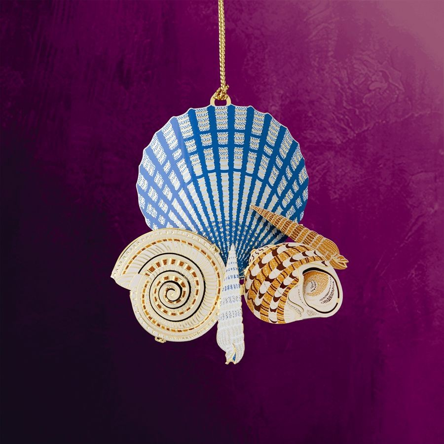 Seashells On The Shore Hanging Ornament