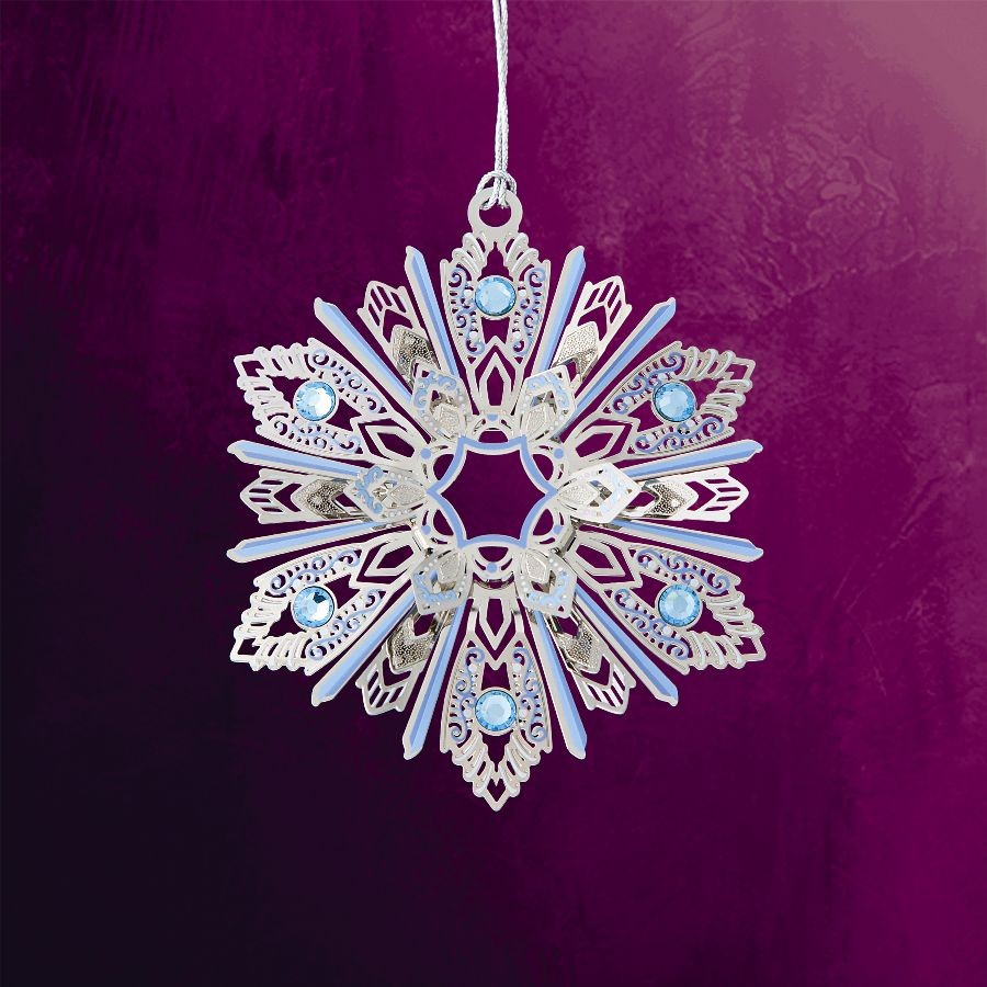 Jeweled Snowflake Hanging Ornament