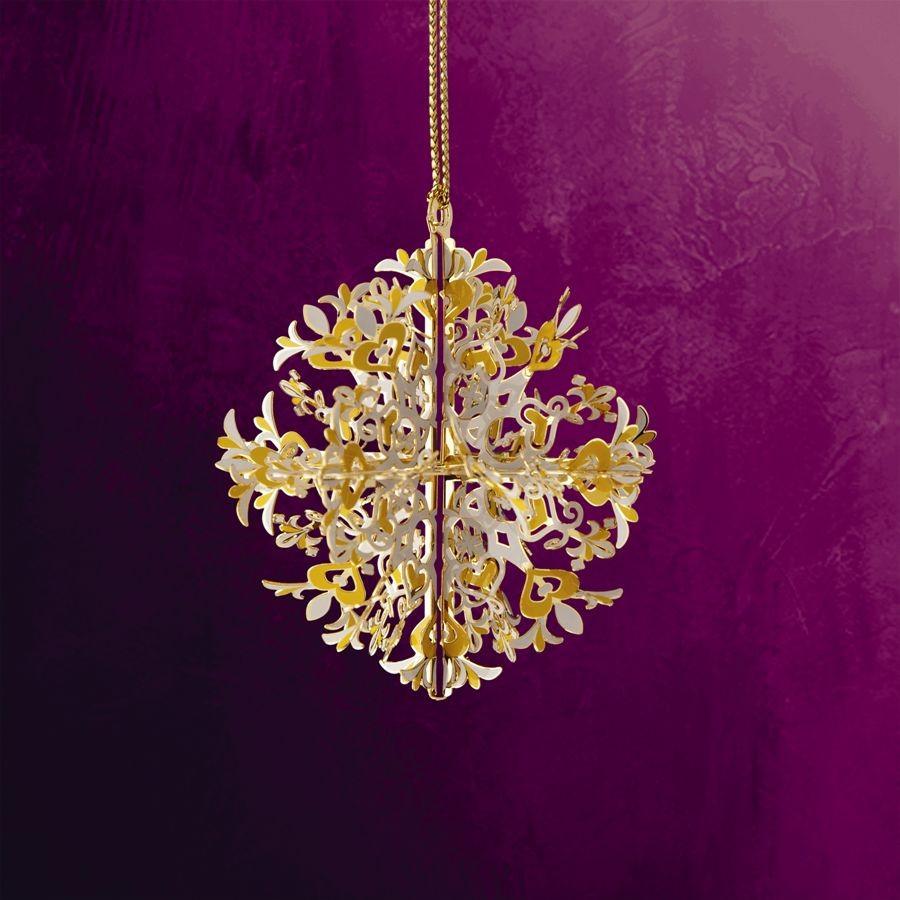 Carnival Snowflake Hanging Ornament