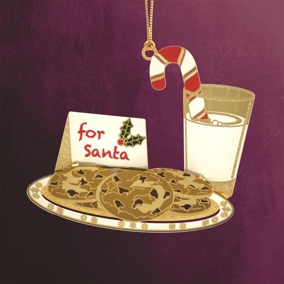 Santa's Milk and Cookies Ornament