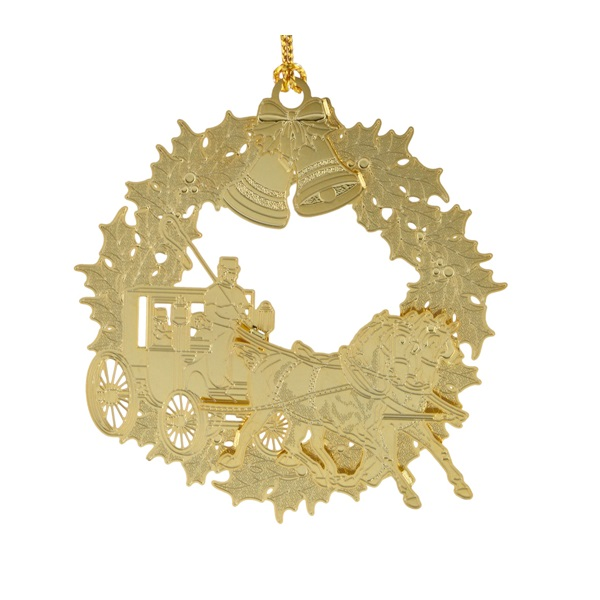 Christmas Horse and Buggy Ornament