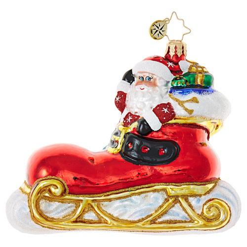 christopher radko 1019025 santa u0026 39 s sleigh gets the boot