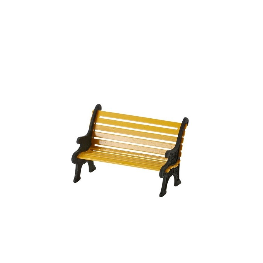 DEPARTMENT 56 4025440 City Wrought Iron Park Bench, Yellow