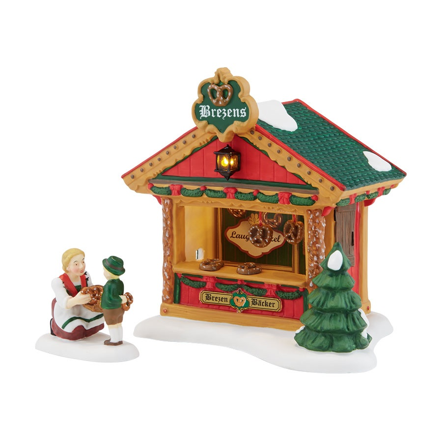 Christmas Market, The Pretzel Booth - Set of 2