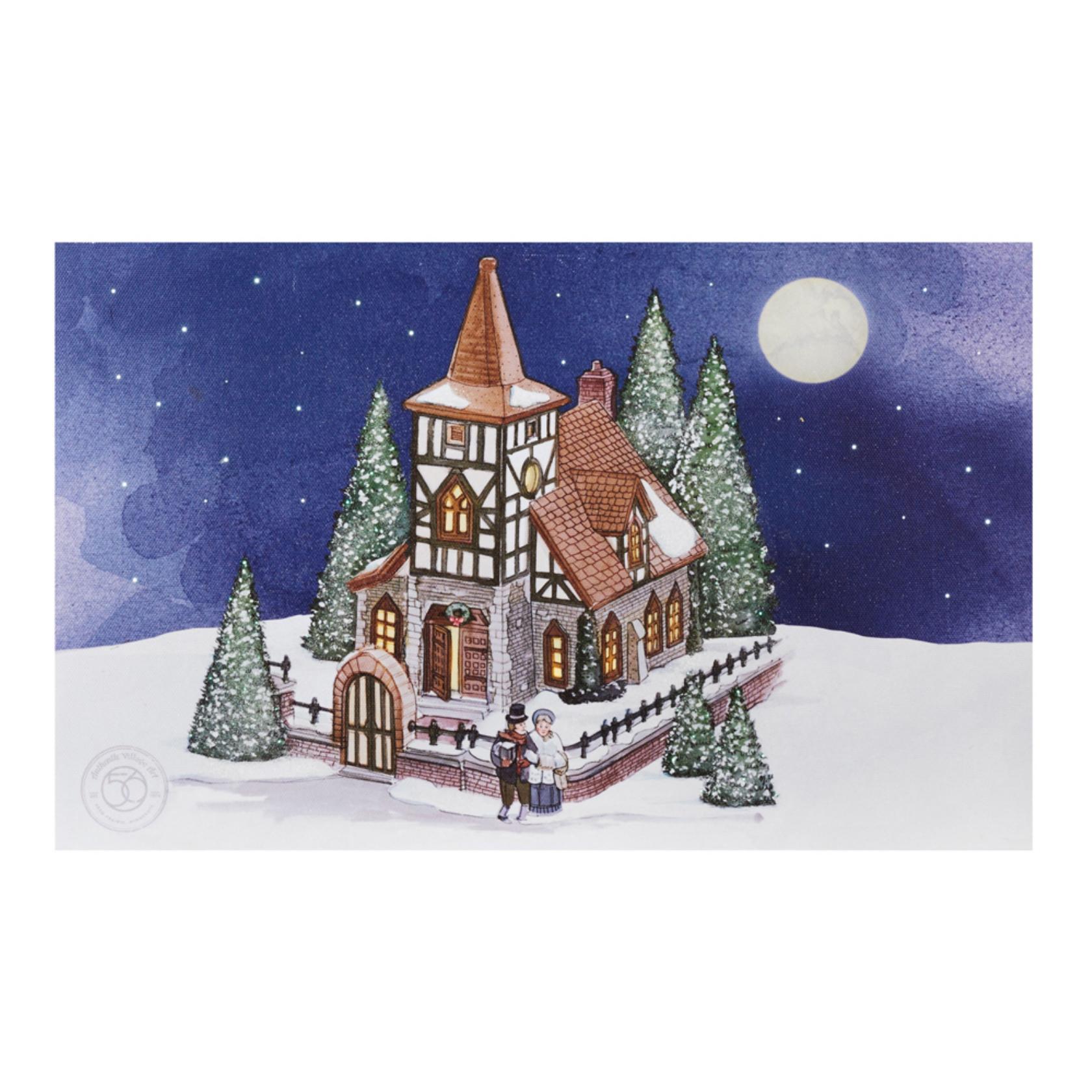 Department 56 4046078 Christmas Church Canvas