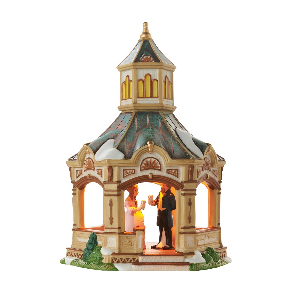department 56 4050926 anniversary gazebo dickens village. Black Bedroom Furniture Sets. Home Design Ideas