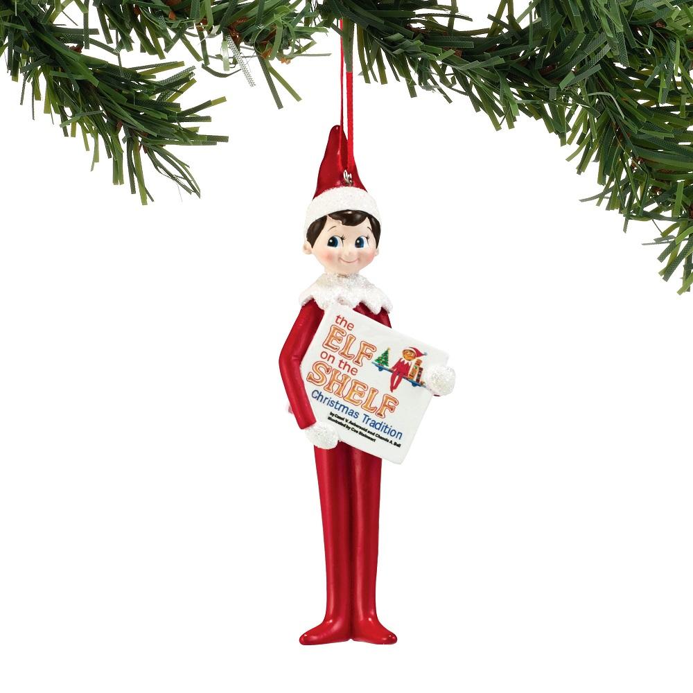 Department 56 4051638 Elf Reading Ornament