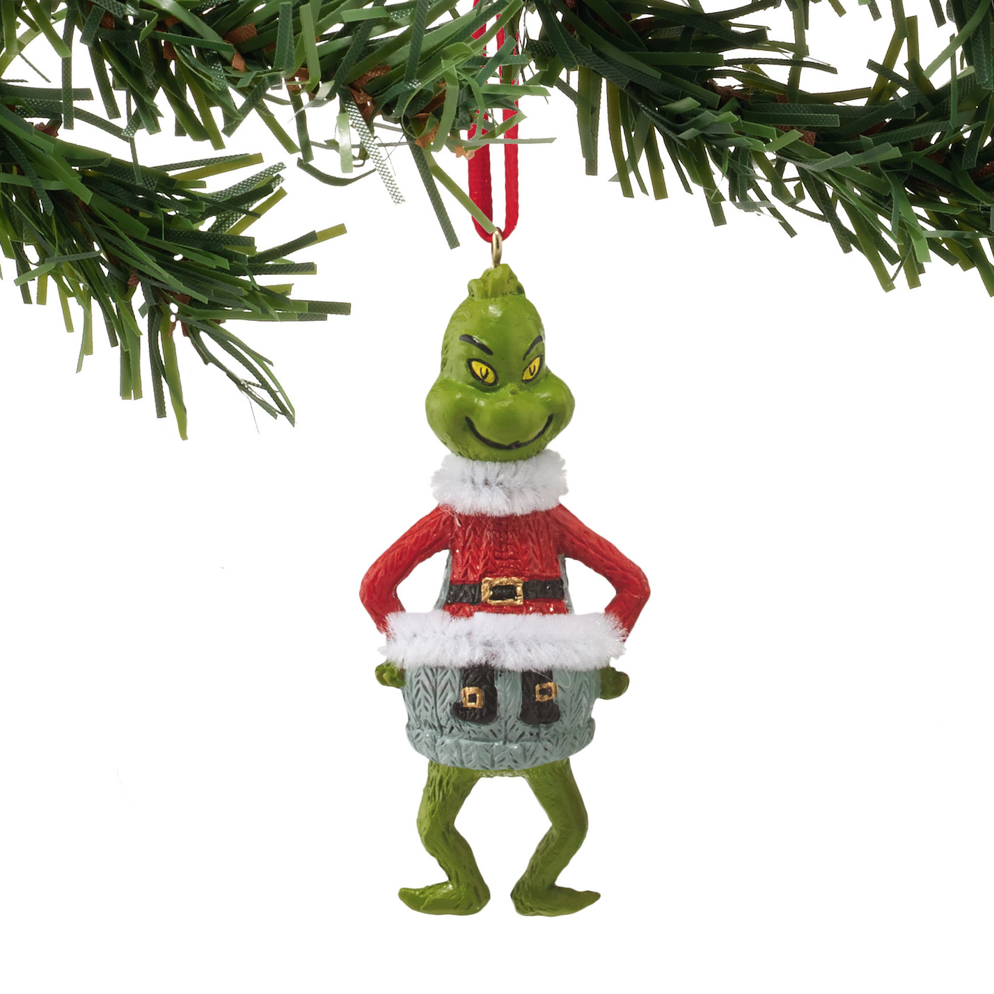 Santa Grinch Ornament