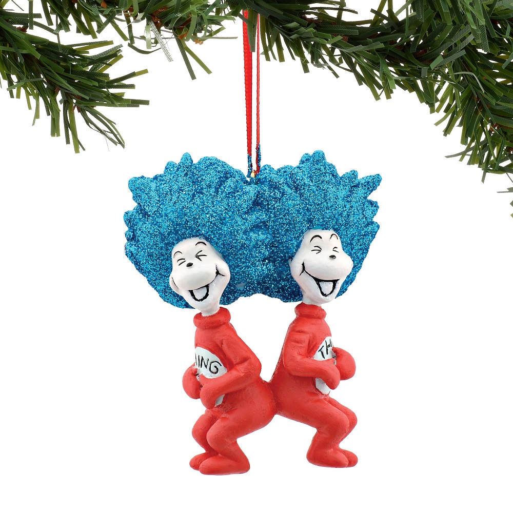 Thing 1 And Thing 2 Laughing Ornament
