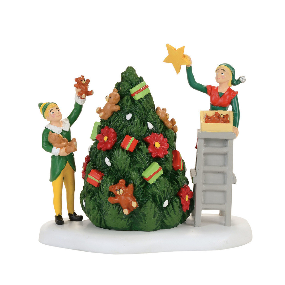 Department 56 4057281 buddy decorating tree with jovi for Decoration 56