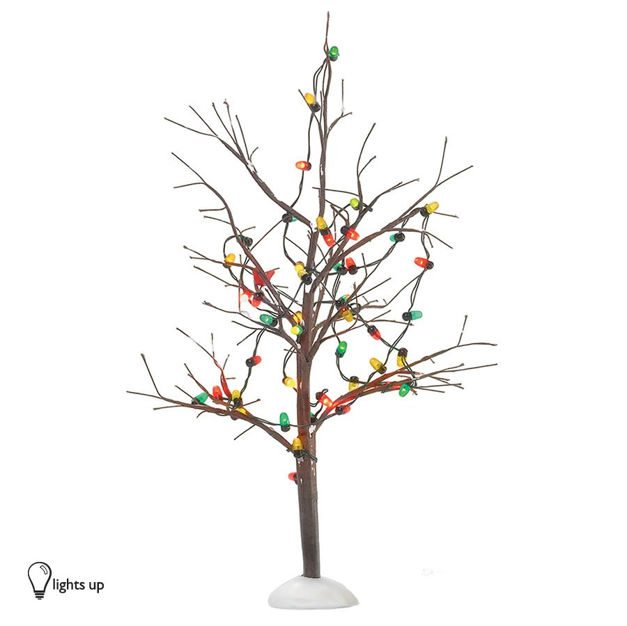 Christmas Tree Return Policy: DEPARTMENT 56 53193 Lighted Christmas Bare Branch Tree