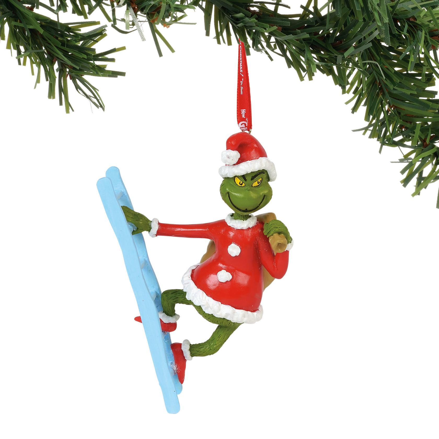 Department 56 6000305 Grinch On A Ladder Ornament