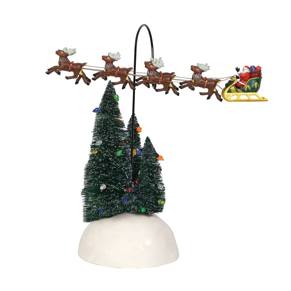 Department 56 6001686 Up Up And Away Flying Sleigh