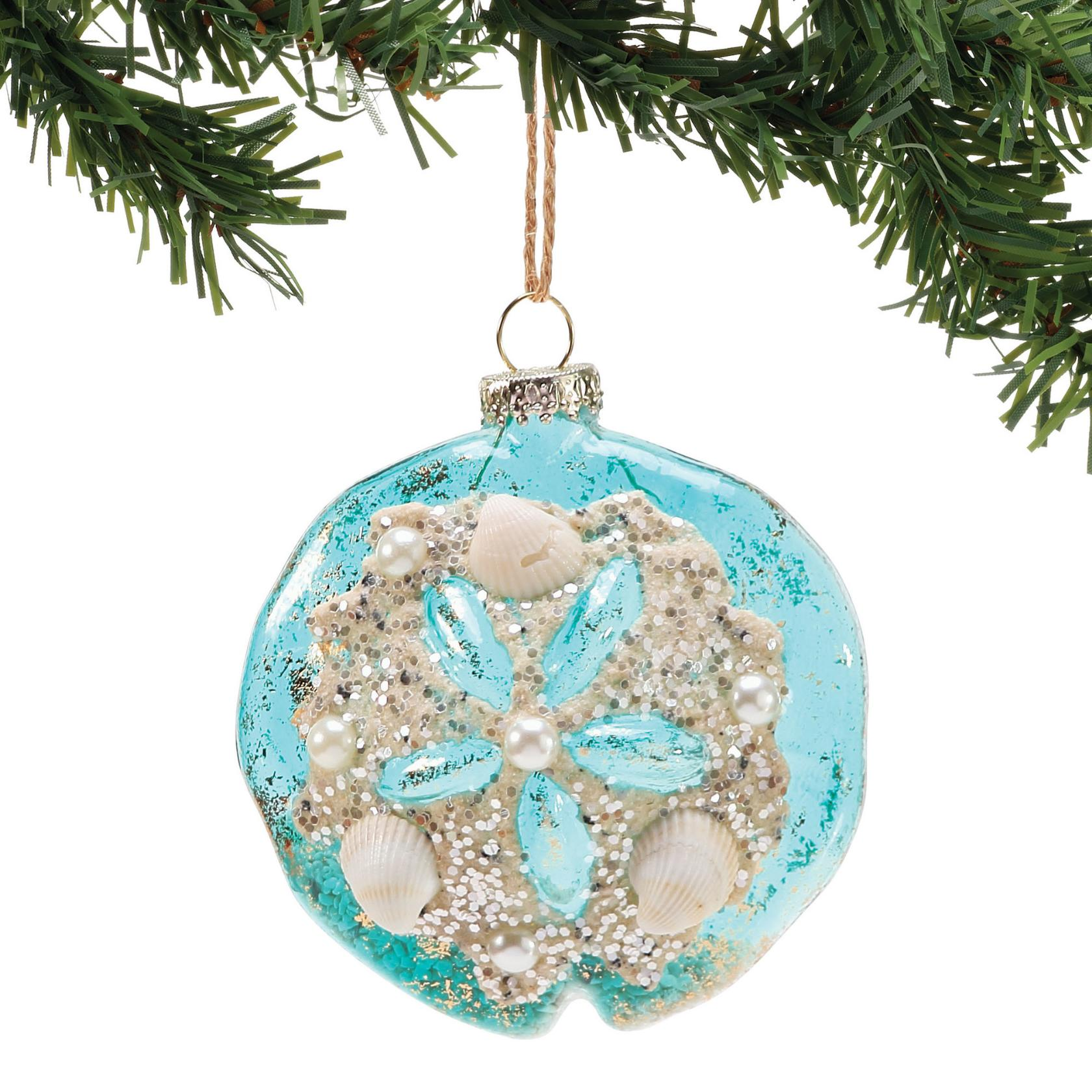 department 56 6002489 glass sand dollar ornament