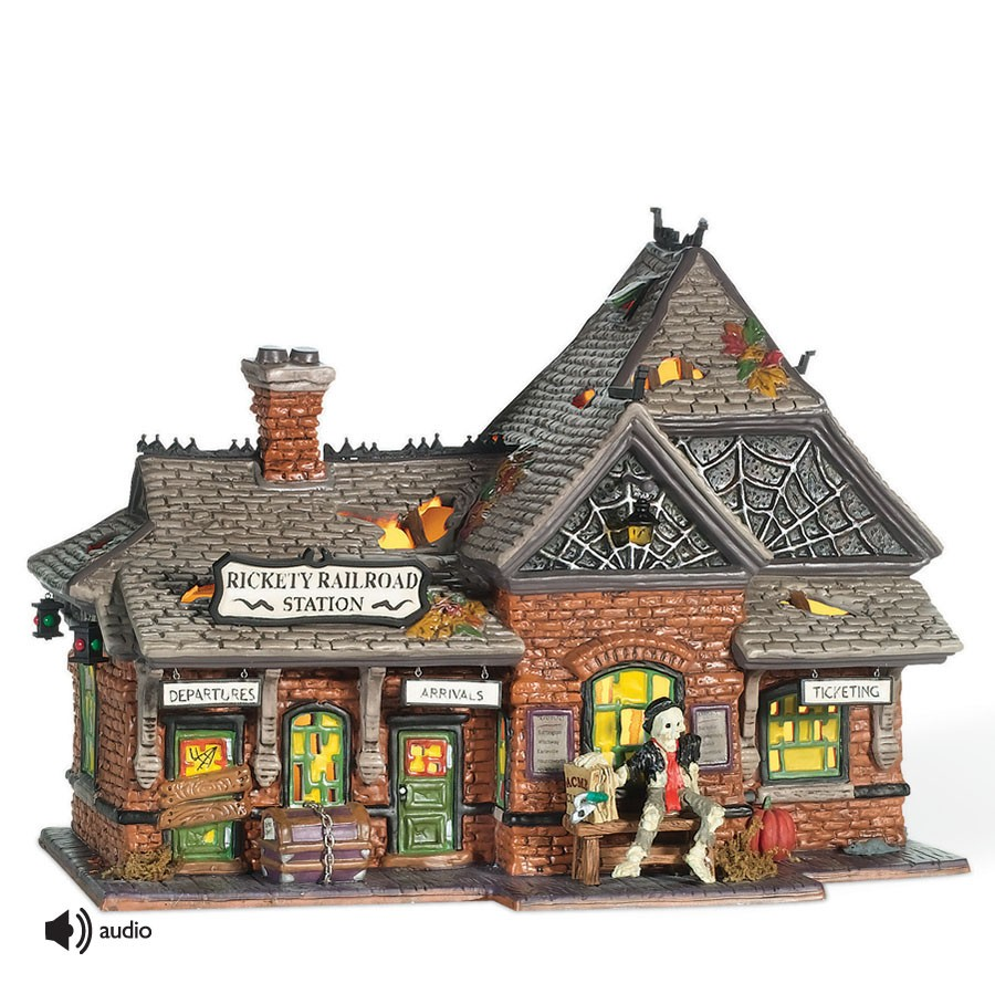 department 56 800000 rickety railroad station. Black Bedroom Furniture Sets. Home Design Ideas