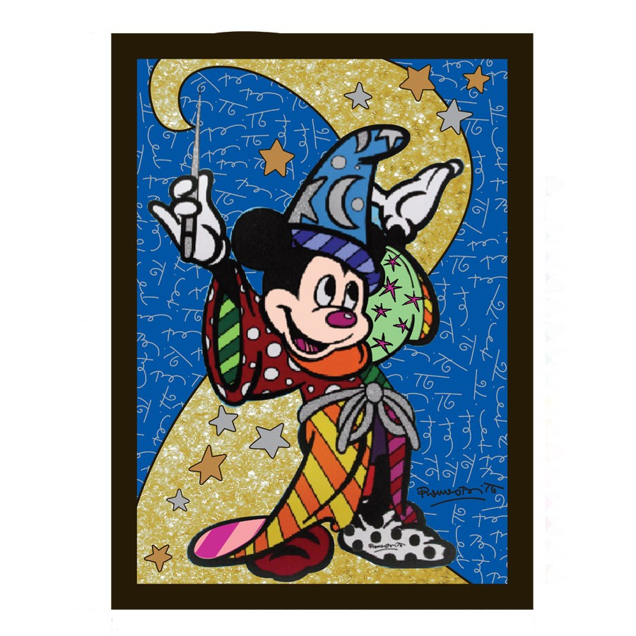 Magic Is All Around - Sorcerer Mickey Pop Art Block