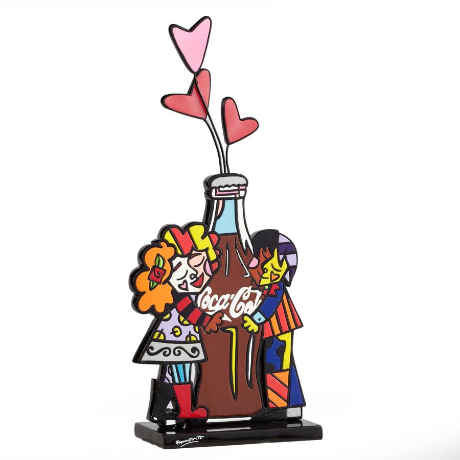 Hugging Coke Bottle Figurine