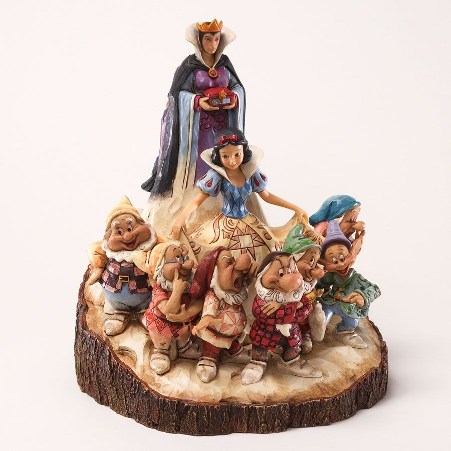 The One that Started Them All - Wood-Carved Snow White Scene
