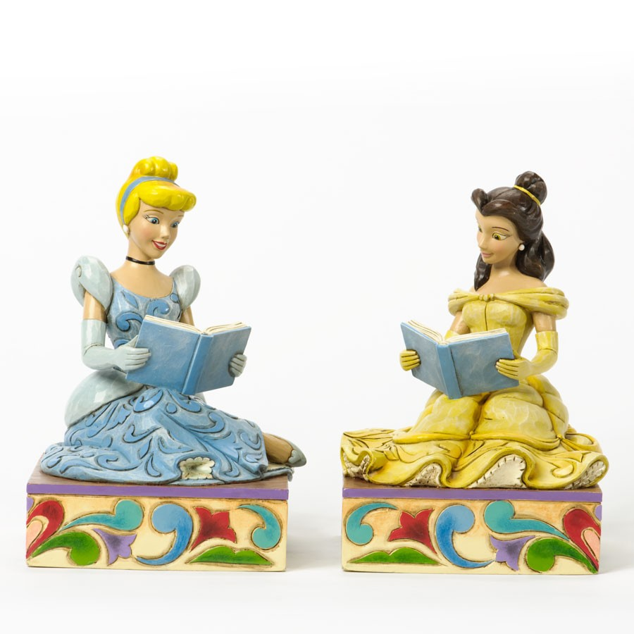 Cinderella and Belle Bookends