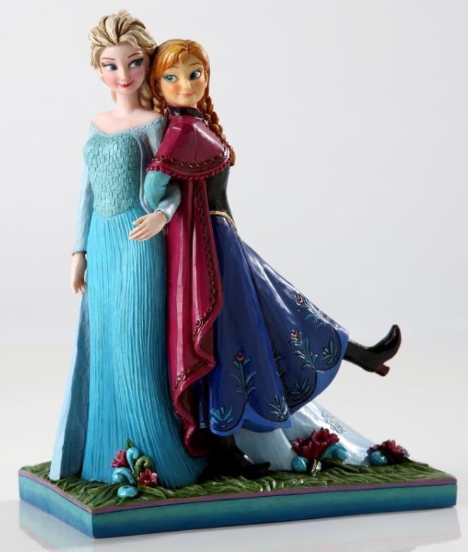 Anna and Elsa Musical Figurine