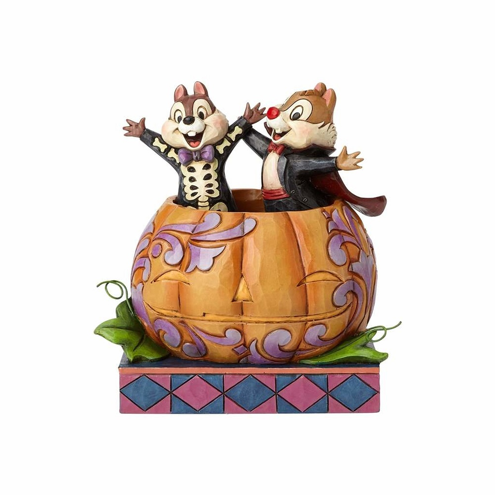 Tiny Tricksters - Chip And Dale In Pumpkin