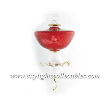 Ballerina Dancer Small Ornament - Red