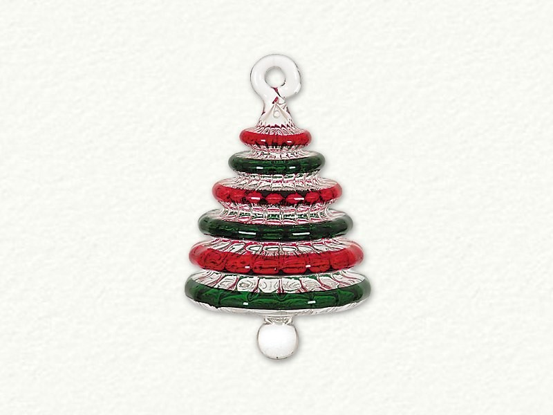 Small Swirl Red and Green Christmas Tree