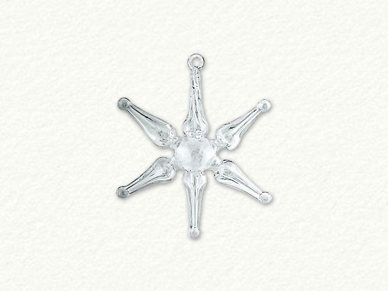 Small Clear Swirl Star Ornament
